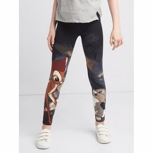 Gap girls Bambi printed black leggings